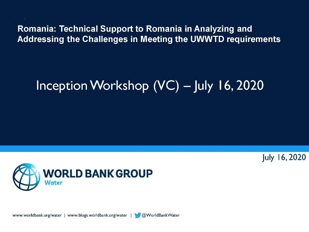 RO WSS strategy outline – Inception workshop